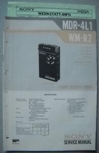 SONY-WM-R2-und-MDR-4L1-Service-Manual-inkl-Service-Info