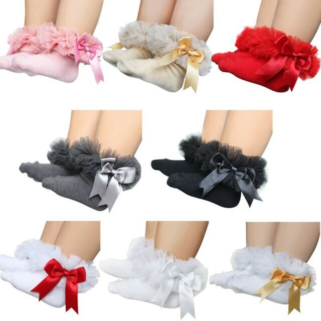 Sweet Baby Kids Girls Lace Ruffle Frilly Ankle Socks Princess Cotton Short Sock