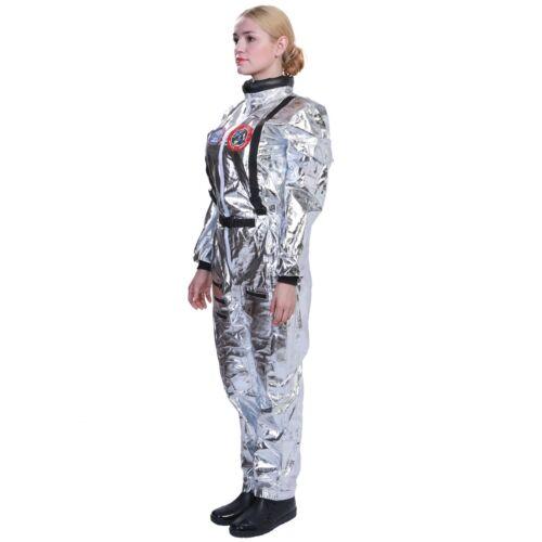 L/'astronaute Combinaison Costume Cosplay Combinaison Spatiale Blanc Navette Halloween unisexprop
