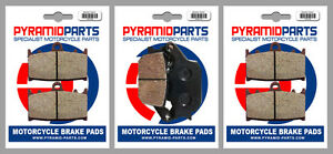 Front & Rear Brake Pads (3 Pairs) for Suzuki GSF 1250 S Bandit ABS 2015