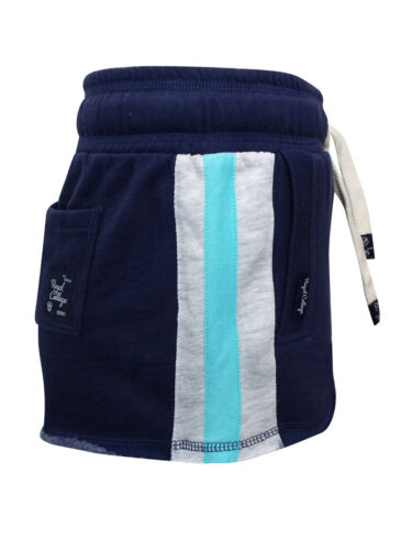 Tokoyo Laundry Navy Cotton Rich Sports Stripe Runner Shorts