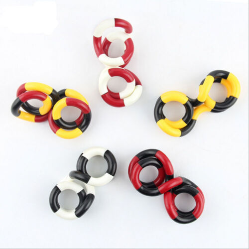 1pc Tangle Junior Smooth Metallic Twisting Circle Ring Fun Toy Stress Relief Toy