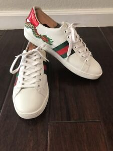 Ace Dragon-Embroidered Sneaker, SIZE