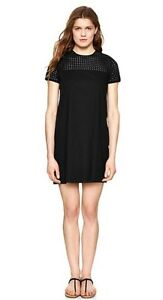 New-Gap-Ladies-Size-XS-Black-Eyelet-Shift-Dress-Nwt-Retail-69-95