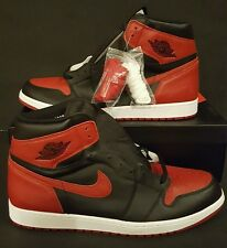 separation shoes da2cd eb593 Nike Air Jordan 1 Retro High OG Banned Bred Black Red Shoes 555088 001