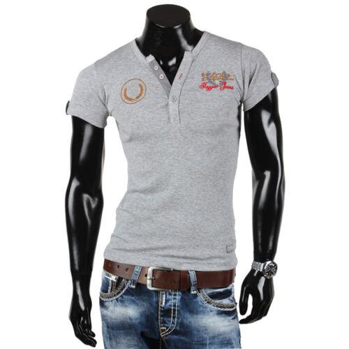 TAZZIO Herren T-Shirt 85377 Slim Fit Japan Style Kurzarm Neu