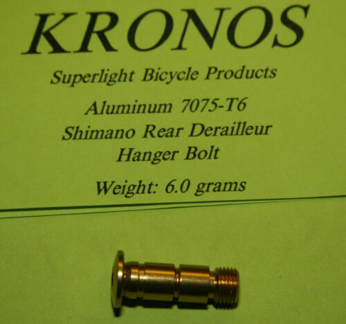 Gold Kronos 7075-T6 Alloy Shimano Rear Derailleur Pivot Bolt