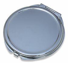 Wholesale Lot of 25 Blank Metal Compact Cosmetic Mirror Cases Small