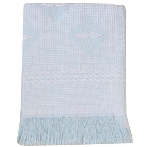 Babyprem Groß Baby Schal Decke 122 X 122cm Cremeweiß Rosa Blau Stern Design