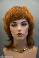 Intense Red Medium Length Straight Wigs