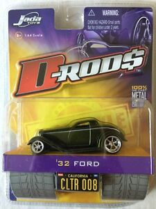 Jada-Toys-D-Rods-039-32-1932-Ford-Green-2005-Wave-1-Die-Cast-1-64-Scale