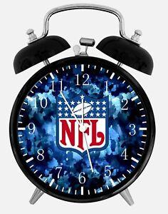 "NFL Alarm Desk Clock 3.75"" Home or Office Decor Z128 Nice For Gift"