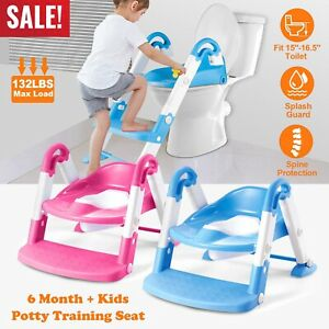 NEW KIDS BABY CHILD TODDLER POTTY TRAINING LADDER STEP TOILET SEAT CHAIR KIDS