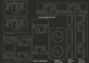 FOX Racing Shox Factory Style Decal Kit Sticker Adhesive Set Green