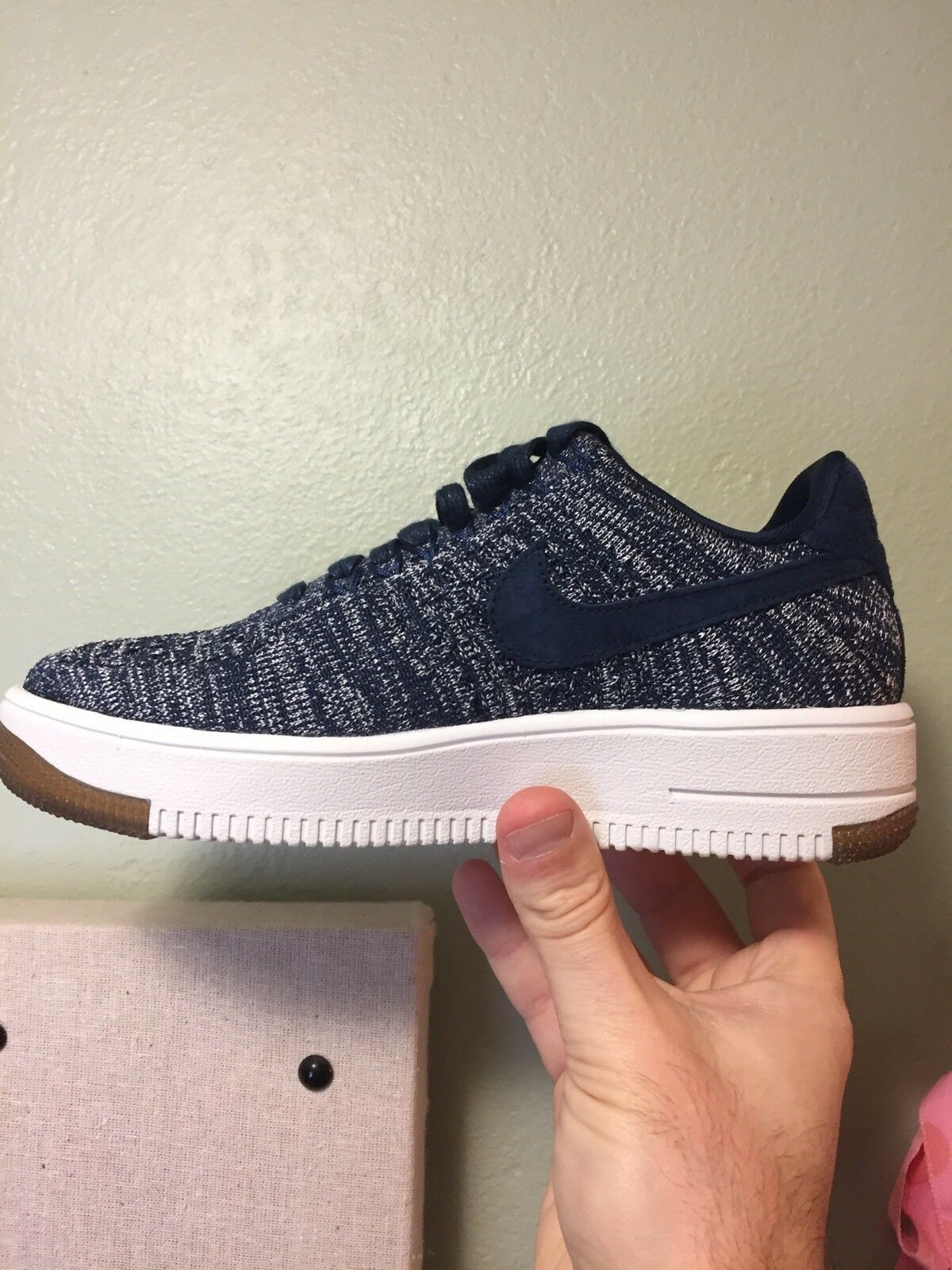 new style 75433 bee7c Womens Nike Air Air Air Force 1 Flyknit Low Size 5 (820256 402) No
