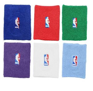 Basketball-NBA-Logo-Terry-Armband-Multiple-Colors-Blue-Red-Green-Purple-White
