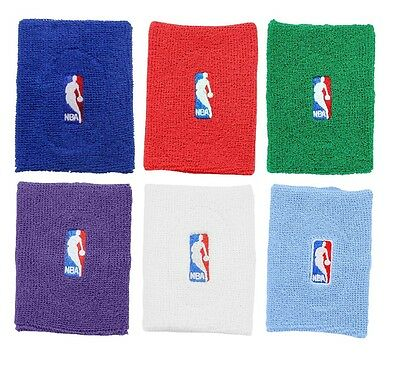 Basketball NBA Logo Terry Armband - Multiple Colors- Blue Red Green Purple White
