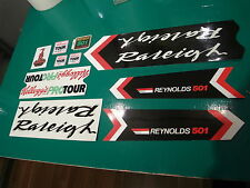 Raleigh Kelloggs team set. The works with 10 decals. Mostly NOS. Limited avail.