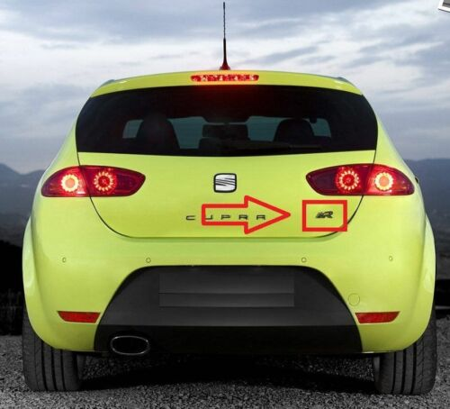 Nuevo Genuino Seat Leon Cupra R posterior Tronco Tapa Insignia Emblema 1P0853686BV0K OEM