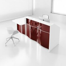 Wave 117 Reception Desk With Counter Top