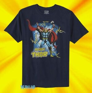 383b4665 Image is loading New-Marvel-Comics-Thor-Mighty-Mens-Vintage-T-