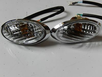 Milano Retro scooter 50cc-150cc Left /& Right Rear Turn Signal Lights Lance Benzh