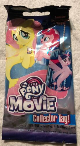 My Little Pony The Movie Fluttershy Seapony Dog Tag Necklace Keychain /& Card!