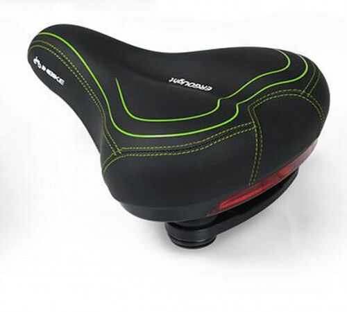 INBIKE Pads Wide Bicycle Saddle Rear Light Foam Cycling Seat Suspension Cruiser