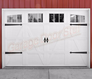 Details About Garage Door Decorative Hardware Steel Hinges And Pulls