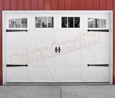 Garage Door Decorative Hardware Steel Hinges And Pulls Ebay