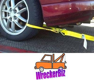 Car Hauler 4 Easy to Use 38-HL9 -x4 Sports Car Tie Down Strap for Rollback Car Carrier BA Products Qty
