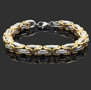 316L-Stainless-Steel-Men-Women-Chain-Gold-Silver-Bangle-Cuff-Wristband-Bracelet