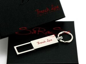 S-T-Dupont-Schluessel-Anhaenger-French-Line-Key-Ring-Palladium-Limited-Edition