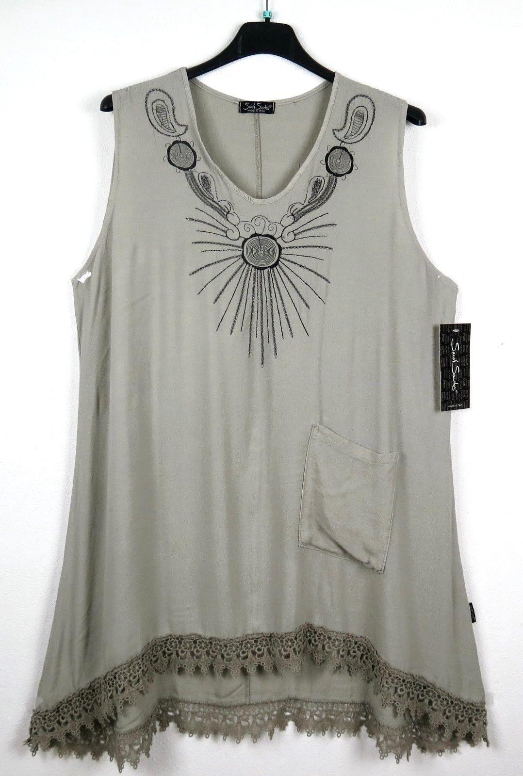 SARAH SANTOS Tunika 30% Seide Tunic Tunique Kleid Dress Robe XL 48 50 Lagenlook