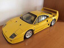 FERRARI F40 yellow with yellow seats   1:8 POCHER  - TOP ZUSTAND