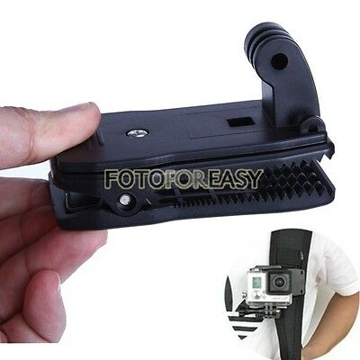 360° Rotary Backpack Hat Rec-Mount Clip Fast Clamp Mount for GoPro Hero 1 2 3 3+