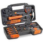 VonHaus Orange 39 Piece General Tool Set Home Hand Kit With Plastic Toolbox Case