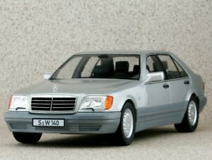 MB Mercedes Benz S 500 / S-Klasse - W140 - 1994 - silver - iScale 1:18