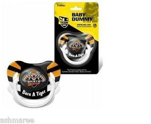 NRL-Wests-Tigers-Baby-Dummy-Baby-Pacifier-Comforter