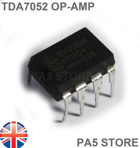 TDA 7052 Operational Amplifier UK 1x TDA7052B Mono Audio OP-AMP I.C DIP-8