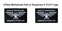 Warhammer 40k (2-pack) Ultramarines 4 X 2.5 Iron/sew-on Patch Space Marines
