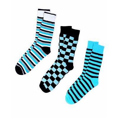 Men's Turquoise Fancy Dress Socks (MFS-Turquoise)