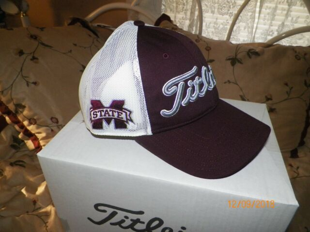 6aef879e1ce Titleist NCAA Collegiate Mesh Performance Adjustable Golf Hat Mississippi  State