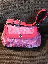 Coach Pink Punch Soho Pleated Handbag F14490