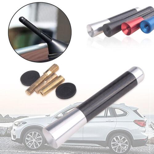 "8cm//3/"" Universal Car Carbon Fiber Aluminum Screw Silver Short Antenna Aerial"