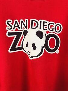 Vintage-Hanes-San-Diego-Zoo-Panda-Sweatshirt-Red-50-50-Adult-XL