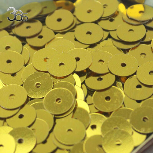 8MM Shinning Gold Round Flat Spangle Sequins DIY for Children/'s Manual 2500PCS