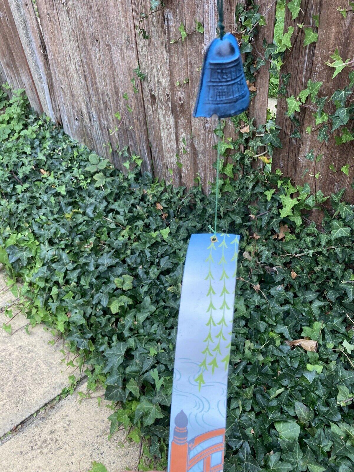 BNIB Vintage Tradition Japanese Wind Chime Nambu Cast Iron bell Iwachu Feng Shui