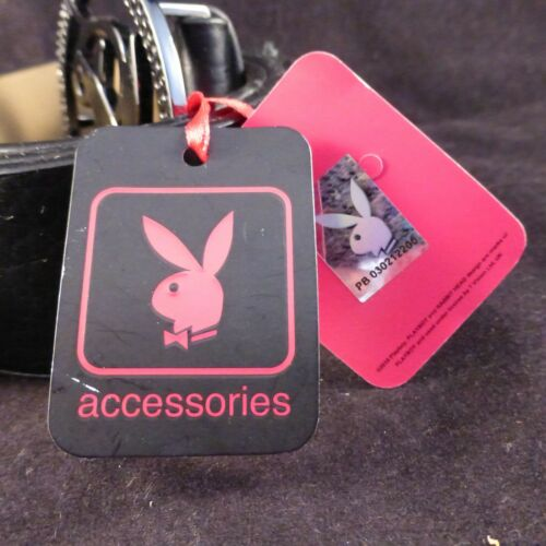 5 Great Colours /& Designs! Playboy Calligraphy Unisex Belt Iconic Bunny Buckle