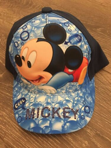 Cotton kids baseball cap caps hat boys hats white navy Cool Mickey 6-12 m 1-2 yr
